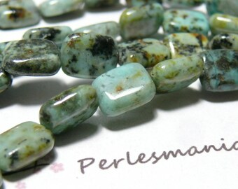 2 chewing gum African turquoise beads