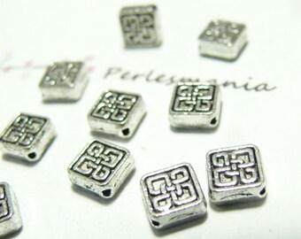 10pcs 2B 3822 square Pearl pendants