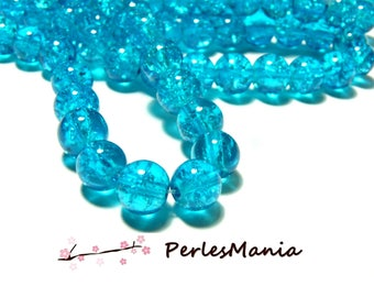 1 strand about 200 06 4mm TURQUOISE blue Crackle glass beads