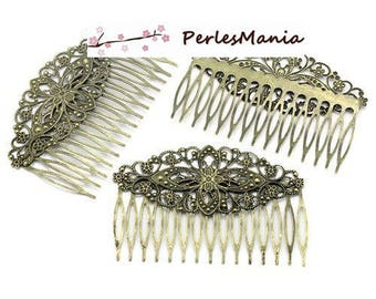 1 large comb hair S1123892 bronze FILIGREE lace