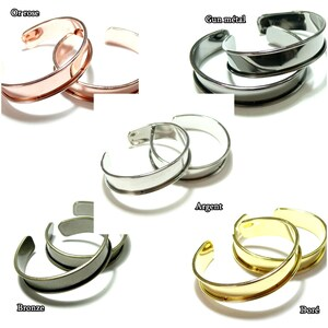 1 5 or 10 Half open rush bracelet  crescent moon and gold or silver disc 18cm