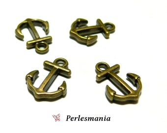 4 charms small anchor Bronze P202