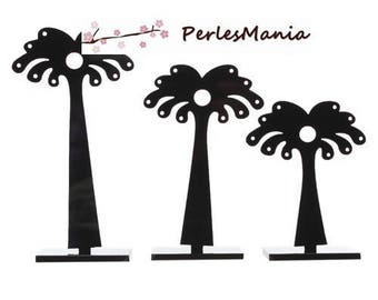 1 SET of 3 display tree Palm trees color black 3 sizes (S1154626)