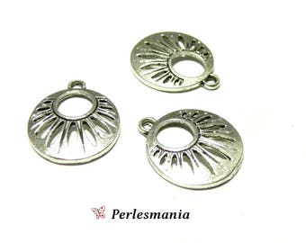 Crafting supplies: 2 beautiful art deco ref154 old silver pendants