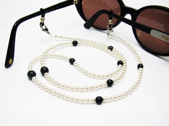 Cordon lunettes perlé chaine de lunettes swarovski collier | Etsy