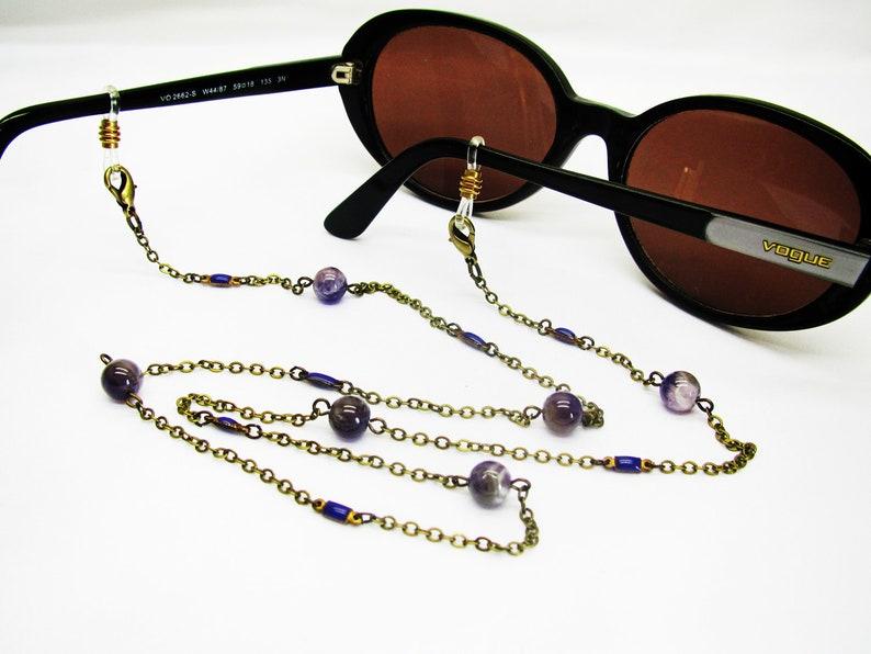 7cc9b3265b Chaine de lunettes fantaisie chaine de lunettes perlée | Etsy