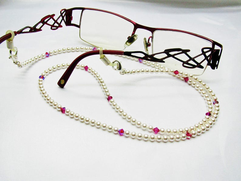2c58142e09 Cordon lunettes perles renaissance swarovski 3 en 1 collier | Etsy