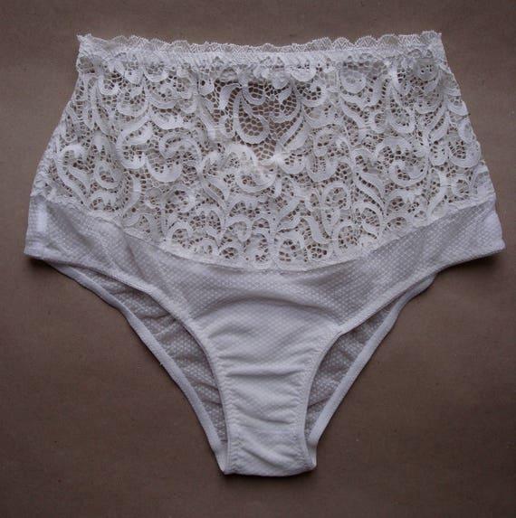 f7ac742bea4 Lace panties Mesh panties White panties Bridal panties