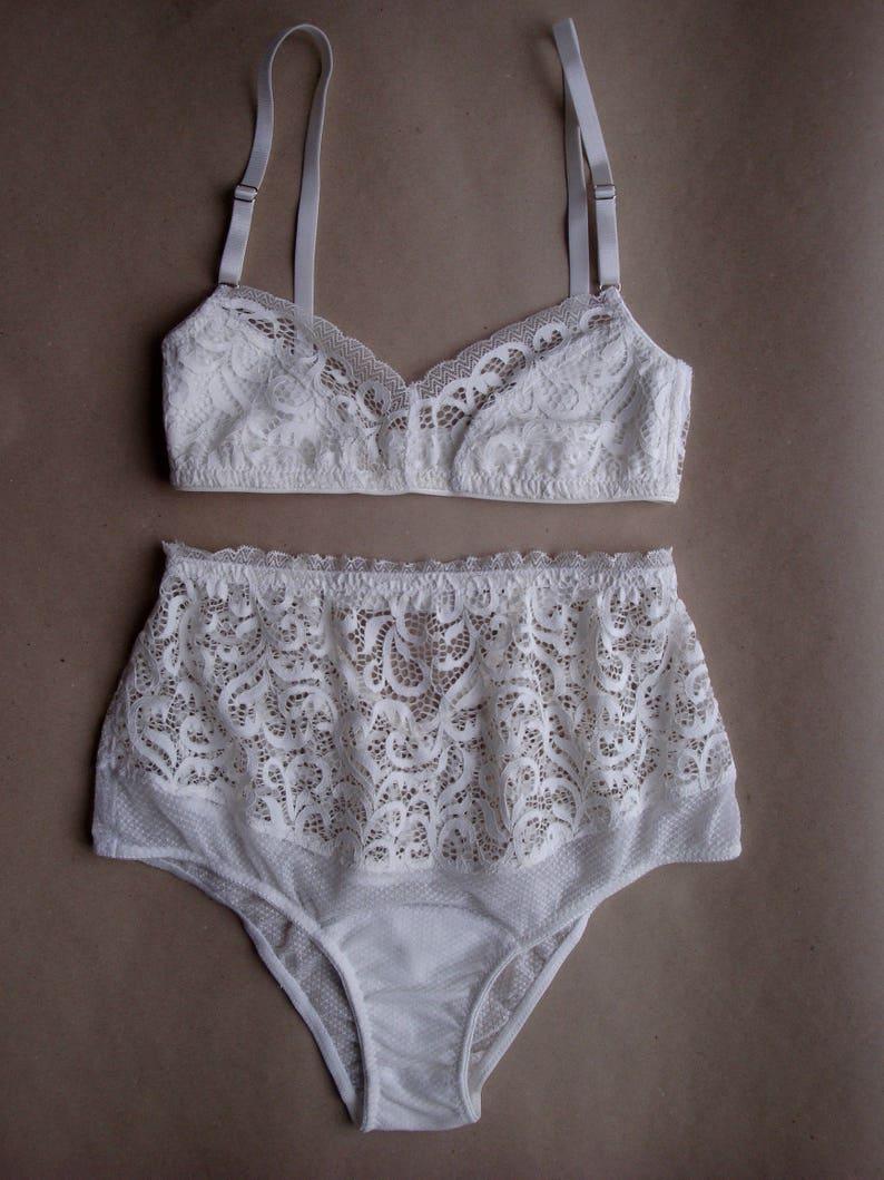 Lace Lingerie Set Mesh Lingerie White Lingerie Bridal Lingerie Wedding Lingerie Wedding Underwear Bridal Underwear Bridal Undergarments