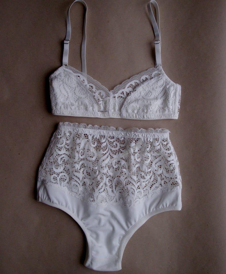 Lace Lingerie Set White Lingerie Bridal Lingerie Wedding Lingerie Honeymoon Lingerie Wedding Underwear Bridal Underwear Bridal Undergarments