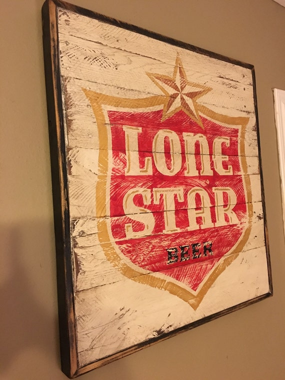 Lone Star Beer Sign Etsy