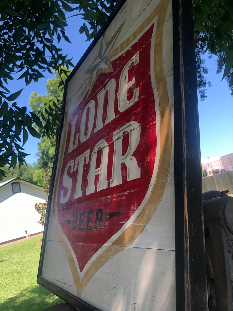 extra large Lone Star Beer sign
