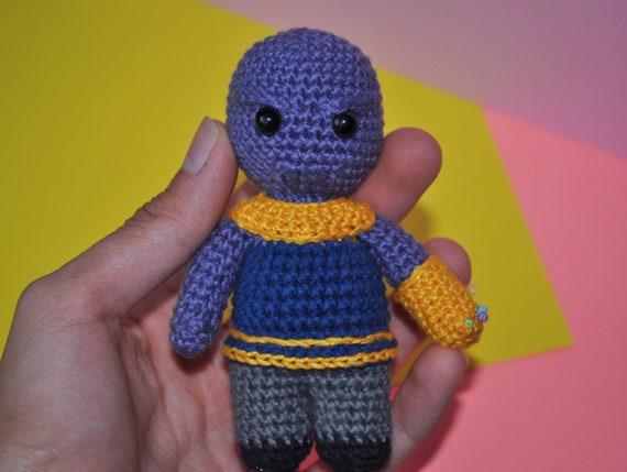 Thanos crochet amigurumi toy - avengers infinity war, end game ... | 429x570