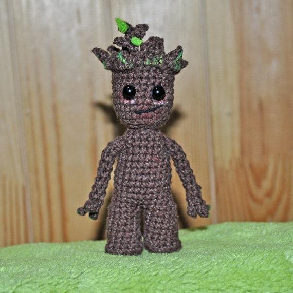 Groot Amigurumi Baby Groot Spielzeug Baby Groot Amigurumi Etsy