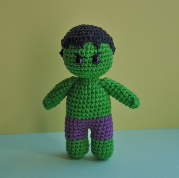 Incredible Hulk is my toy of the day. 😊💪👻💚 Crochet pattern is ...   569x570