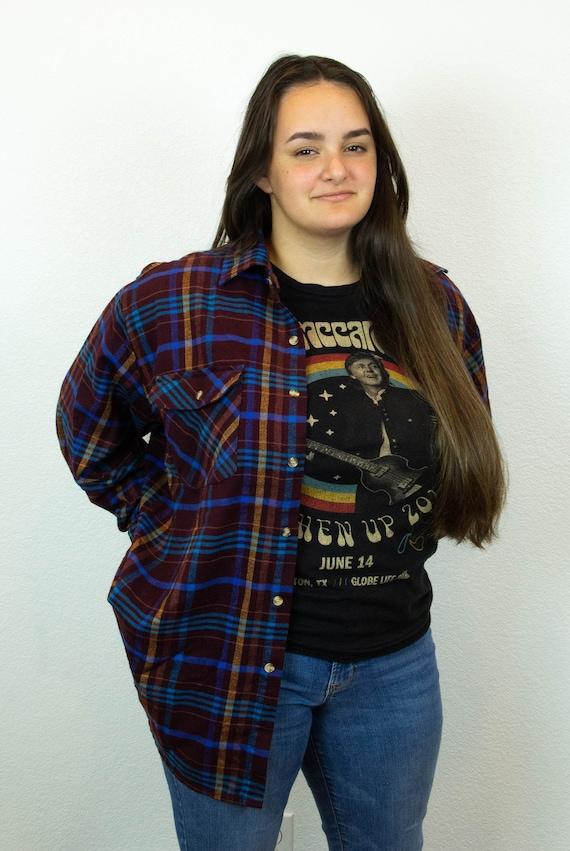 80s 90s Plaid Flannel / Vintage Plaid Flannel / 8… - image 1