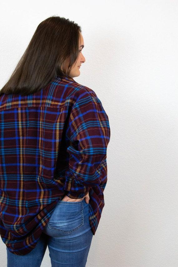 80s 90s Plaid Flannel / Vintage Plaid Flannel / 8… - image 4