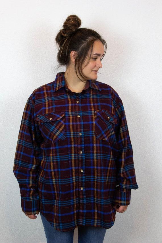 80s 90s Plaid Flannel / Vintage Plaid Flannel / 8… - image 2