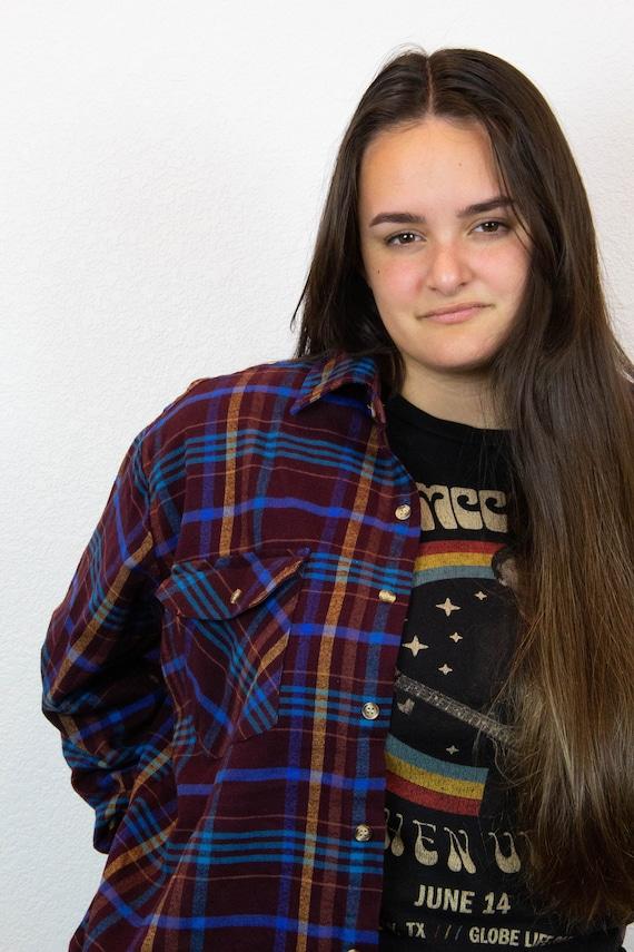80s 90s Plaid Flannel / Vintage Plaid Flannel / 8… - image 3