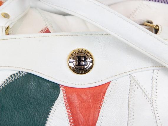 80s Vintage Leather Patchwork Purse / Leather Pat… - image 4