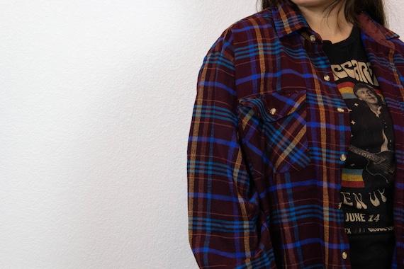 80s 90s Plaid Flannel / Vintage Plaid Flannel / 8… - image 5