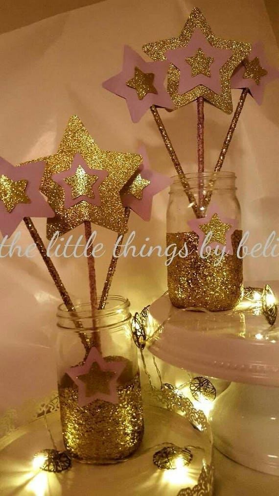 twinkle twinkle little star themed centerpieces centro de mesa etsy rh etsy com star themed wedding centerpieces Star Themed Candles Centerpieces