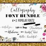 Font Bundle Fonts Fancy Fonts Swirly Fonts Digital Font Calligraphy Digital Download Font Wedding Font Cricut Font Calligraphy Christmas Fon