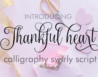 Digital download calligraphy font Wedding Christmas digital font  modern calligraphy script, Wedding Font, Christmas Font, invitations font