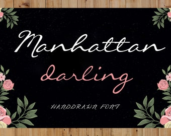 Font - Handwritten font download . Perfect Cricut Font & Silhouette Font. Convert to embroidery font. Font for invitations