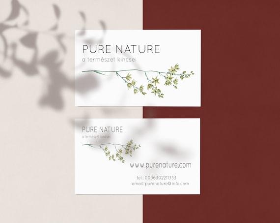 Premade Minimalist Logo, Greenery Logo, Business Logo, Branding Logo, Custom Logo, Calligraphy logo design, Watermark logo, Botanical Logo