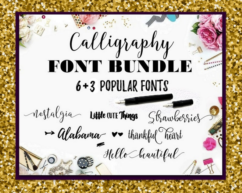 Font Bundle Fonts Fancy Fonts Swirly Fonts Digital Font Calligraphy Digital  Download Font Wedding Font Cricut Font Calligraphy Christmas Fon