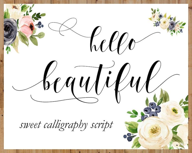 Font Download Font Cricut Silhouette Font Fonts Swirly Etsy