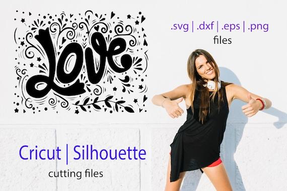 Valentine's Love SVG file Cricut file cutfile Silhuettes file svg dxf eps files Cutting file design elements love silhouette valentine