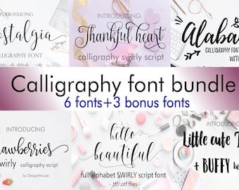 Swirly fonts, Font Bundle, Valentines Day fonts, Fancy Fonts, Swirly Fonts, Digital Font, Calligraphy Font, Wedding Font, Cricut Font