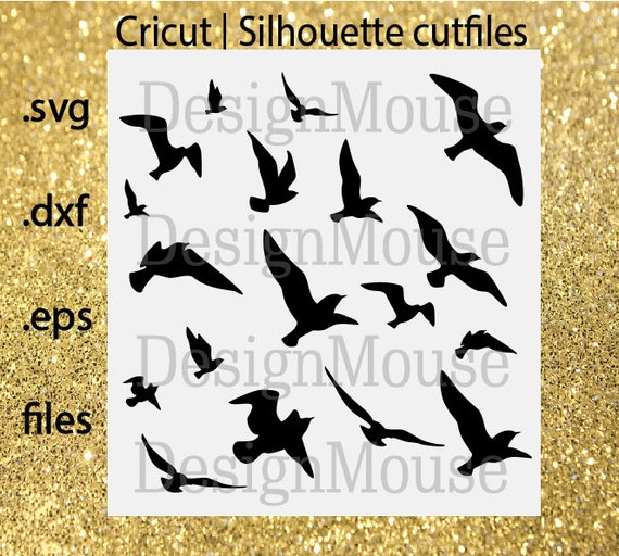 SVG file Cricut file cutfile Silhuettes file svg dxf eps files Cutting file svg Flying birds silhouette | Birds | Animals | svg Cricut file