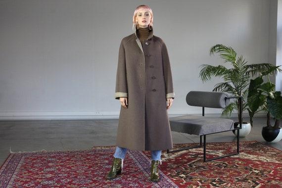 Rare Vintage 90's Burberry Pure Wool Coat in Beige