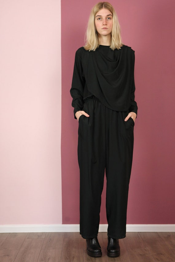 Vintage 80's French Miss Lagote Silk Event Jumpsui