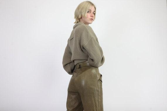 Vintage Escada Margaretha Ley Leather Trousers Bei