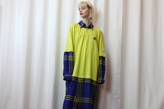 Vintage Adidas Reworked Oversize Checked Dress