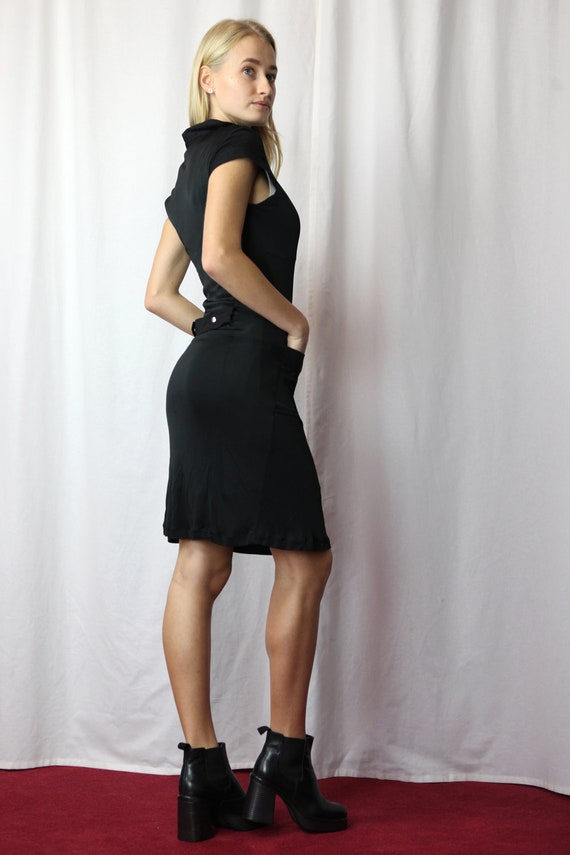 Y2K Rave Guess by Marciano Mini Dress in Black