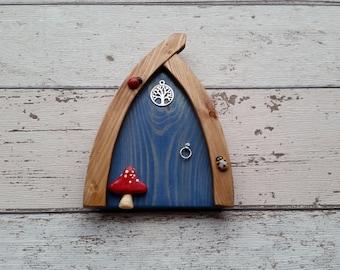 Outside/Indoor garden Fairy Door Elf Door Sea Blue  Range Beautiful Handmade Fairy Garden Door Magical Portal