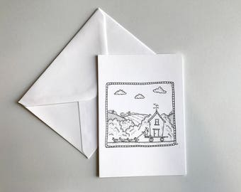 Chicken Caravan - Greetings Cards (based on original artwork)