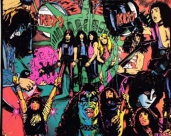 KISS Collage Black Light Poster