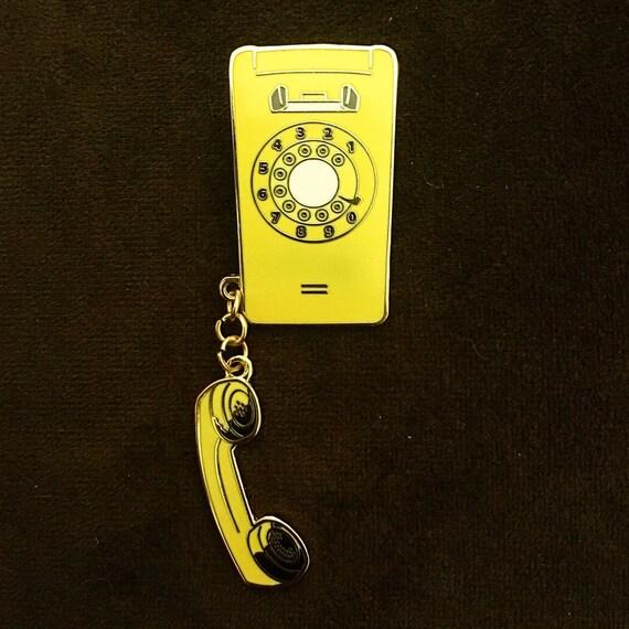 Elegant Stranger Things Enamel Pin Joyce Byersu0027 Phone // Will