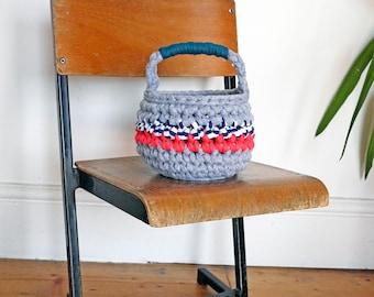 kids mini basket, easter egg hunt basket, kids play basket, nursery decor, small crochet basket, kids bedroom, eco storage basket,