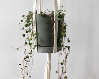 Houseplant hanger, Macrame hanging planter, eco plant hanger, natural rope planter, hanging plants, eco homewares, eco gifts, plant lover