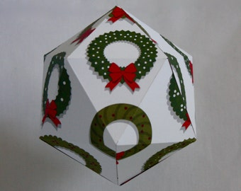 CHRISTMAS#02 - Christmas ball  - Christmas wreath pattern
