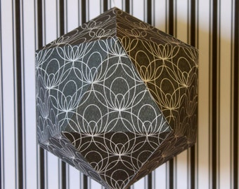 Origami ball - Black and white Art Deco Pattern