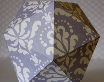 GRAPHIC#13 - Paper suspension - Purple arabesque pattern