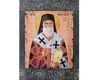 Religious San Nectario de Egina Catholic Saint Santos Saints Collection Saint Nektarios Gabz Communion
